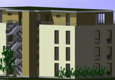 Passivhaus, Niedrigenergiehaus: Mehrfamilienhaus 1