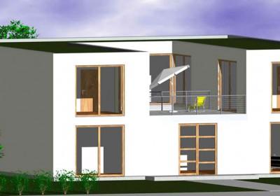 Passivhaus, Niedrigenergiehaus: Atrium-Haus