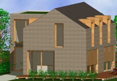 Passivhaus, Niedrigenergiehaus: Haus mit Giebel