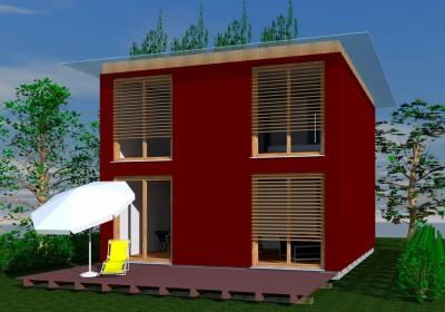 Passivhaus, Niedrigenergiehaus: Würfel-Haus SingleQ2